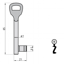 Warded Key Blank