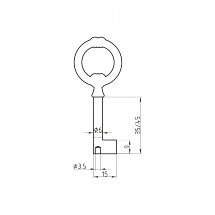 Furniture Key Blank