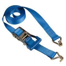 Ratchet tie down  6 m with J hooks - colour :blue I lashing