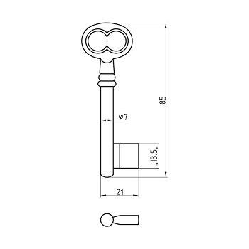 Single-Bit Key Blank