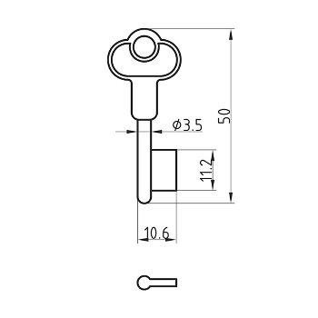 Einbart-Schlüsselrohling