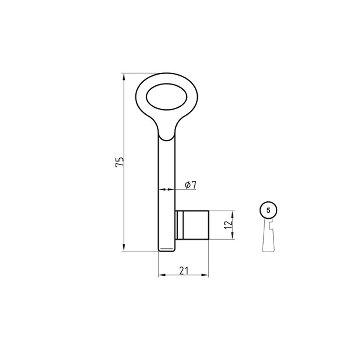 Chubb-Schlüsselrohling