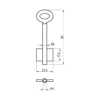Stahl-Schlüsselrohling
