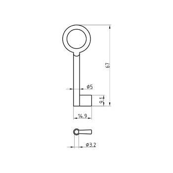 Mortise Key Blank