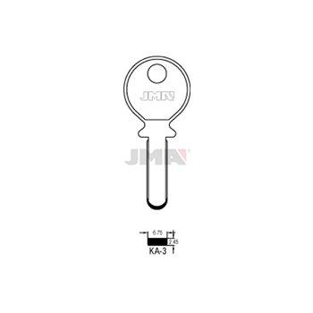 Bohrmulden-Schlüsselrohling