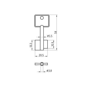 Steel Key Blank