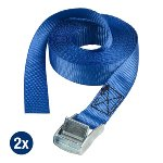 set of 2 lashing straps 2,50m - colour : blue I lashing